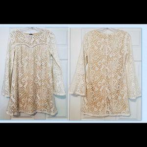 Women's cream lace dress